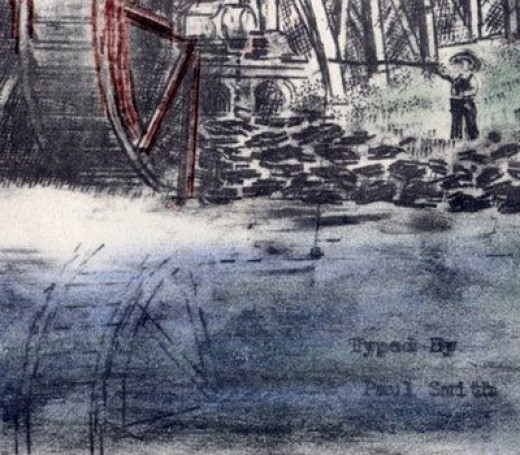 """""""The Old Mill"""" Detail"""