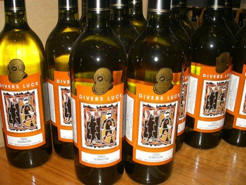 Australian Semillon Wine by DiverSluck in Flickr