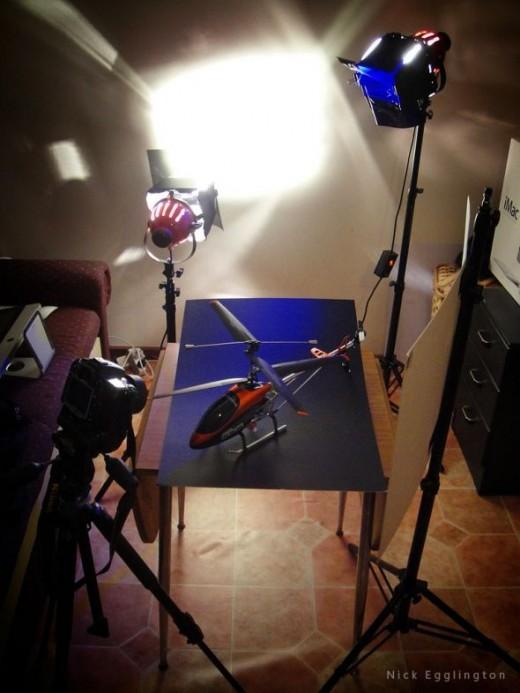 A two light setup