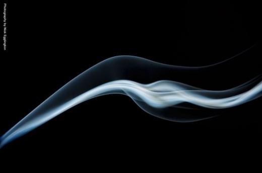 A jet stream of smoke.