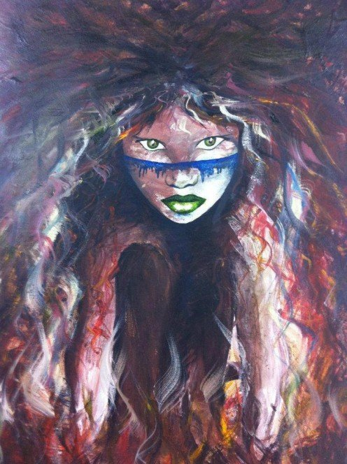 Title - 'I AM...'' http://fineartamerica.com/featured/i-am-stacey-austin.html Medium - Acrylics and Oil on Canvas Artist - Myself Signed Limited Edition Prints Are Available