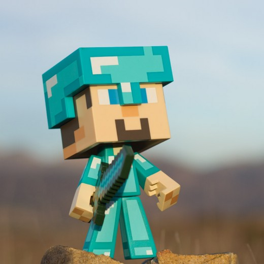 Minecraft Steve Diamant