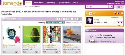Snapshot taken from http://www.jamendo.com/en/albums