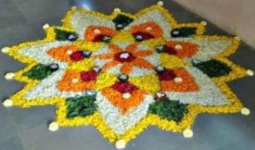 Pookalam - Flower Rangoli