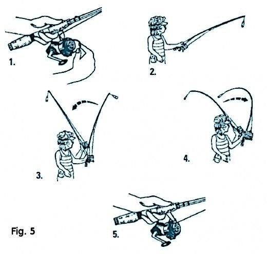 Casting with Spinning Gear (fig. 5)