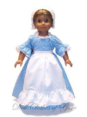 'Betsy Ross' Doll Dress
