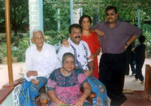 V. Prabhakaran with Family.