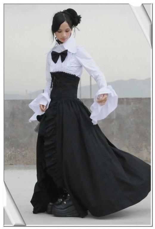 black long gothic skirt