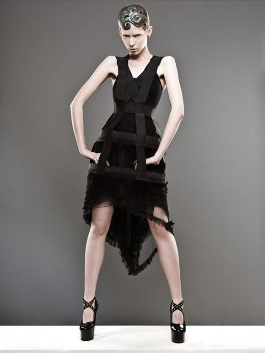 Black gothic cage dress