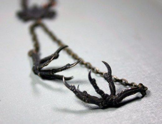 gothic claw necklace