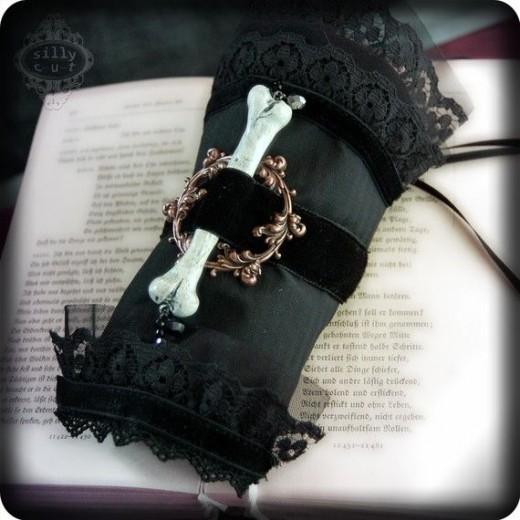 gothic bone cuff