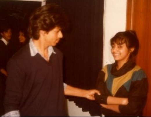 That Was Then--- ShahRukh With Childhood Sweetheart Gauri