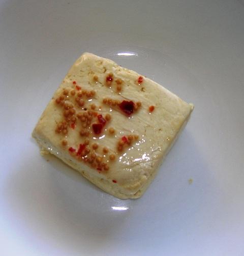 tofu and hot sauce