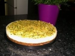 Pistachio Cake With Lebanese Cream