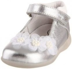 Silver Mary Janes for Little Girls