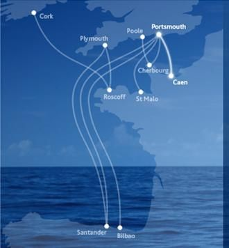Ferry Routes to France