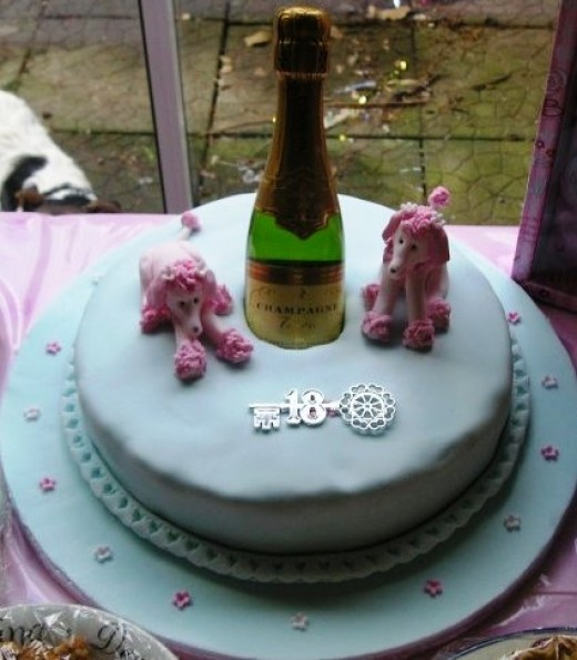 Poodles 18th Birthday Cake