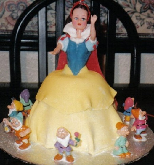 Snow White (the dwarfs are plastic!)
