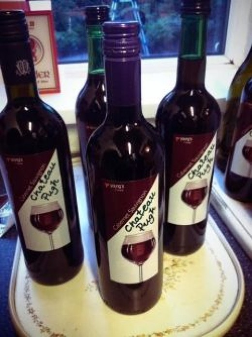 "Our Homemade ""Chateau Pugh"" Wine"