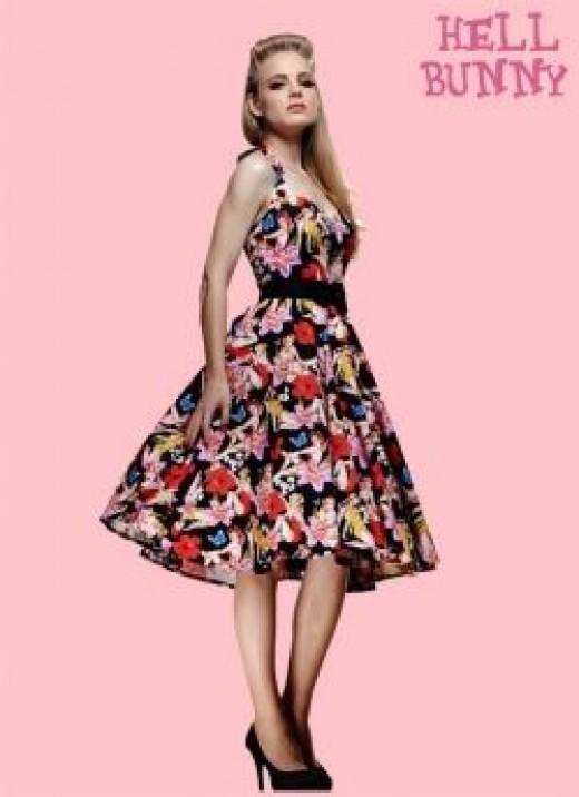 Hell Bunny Hawaii 50s Dress