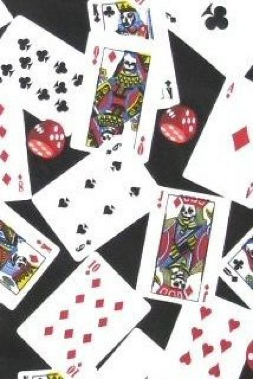 Hell Bunny 50s PokerFace Dress Fabric