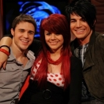 With Kris Allen and fellow contestant Allison