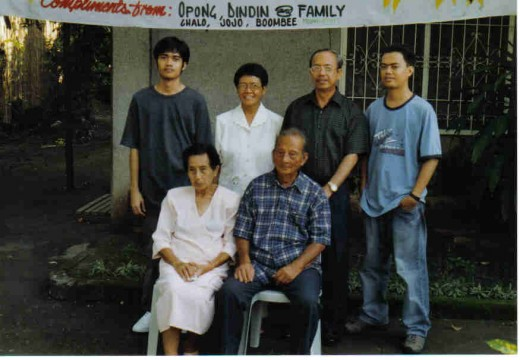 the eldest son with family, other son not present