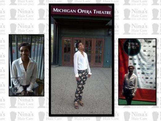 Nina at The Michigan Fash Festival held at the Detroit Opera House 2012