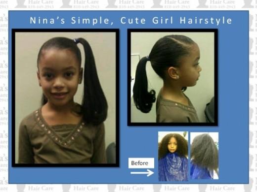 Nina's Cute Girl Hairstyle