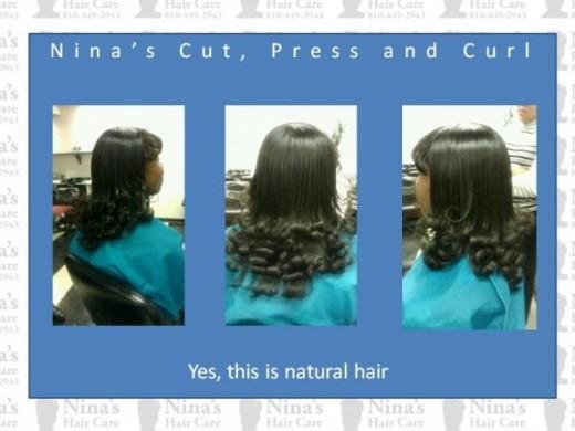 Nina's Haircut, Press and Curl