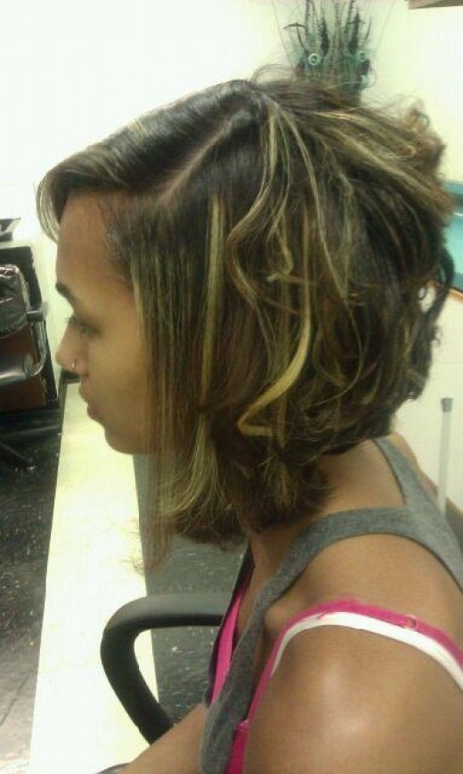 haircut side view