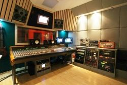 The recording studio of Paul 'Win' Winstanley. An audio engineer at mixing Audio Pros