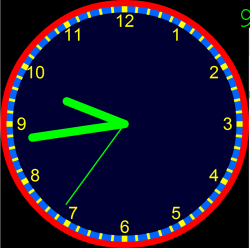 Using Visnos Interactive Clock