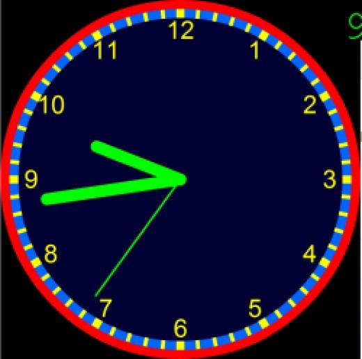 Using Visnos Interactive Clock