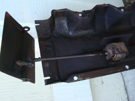 Vent door and bellows removed from corvair