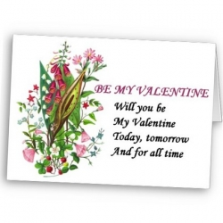 Be My Valentine Greeting Card at Zazzle.com/injete