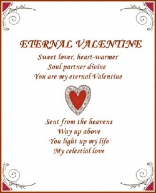 Eternal Valentine Love Poem Poster at Zazzle