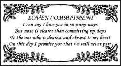 Loves Commitment Wedding Poem Poster