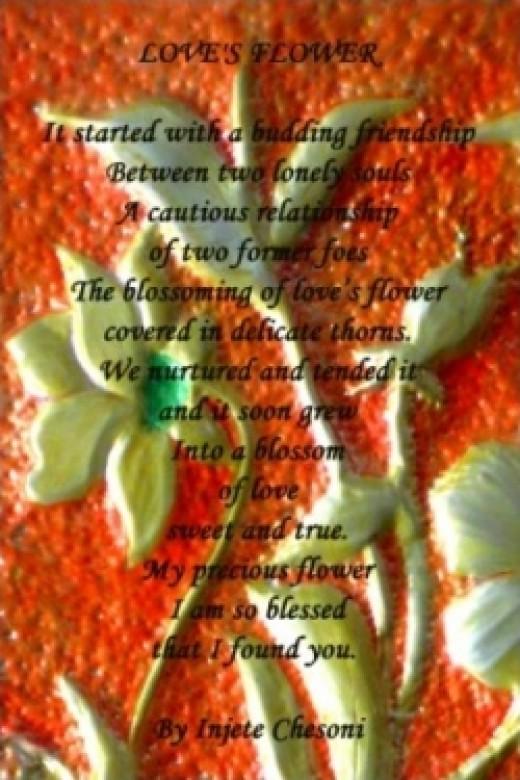 Loves Flower Poem Poster at Zazzle