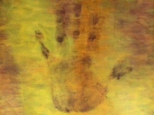 My Hand, Abstract Art by Injete Chesoni.