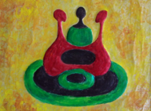 Celebration Table (Circle of Sisters III), African Art by Injete Chesoni.