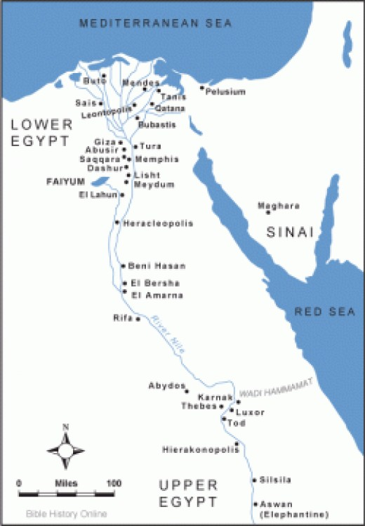 Source: Map of Ancient Egypt.