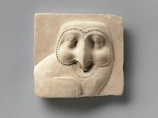 Source: Relief plaque with face of an owl, 400â30 B.C. The Metropolitan Museum of Art, New York