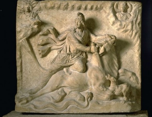 Source: Mithras sacrificing the Bull, Museum of the Louvre, Paris, France