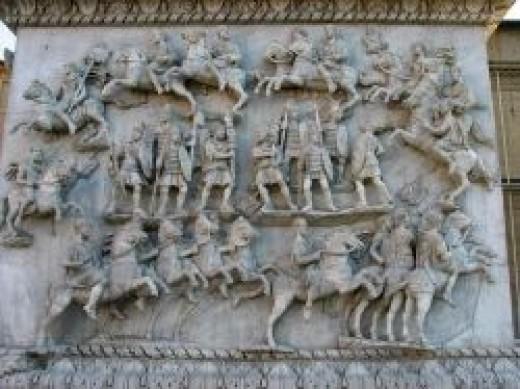 Source: Decursio, pedestal of the Column of Antoninus Pius, 161 CE Rome, Italy
