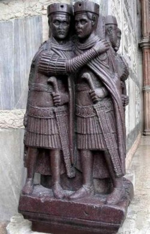 Source: Portraits of the Four tetrachs, 305 CE Saint Markâs, Venice