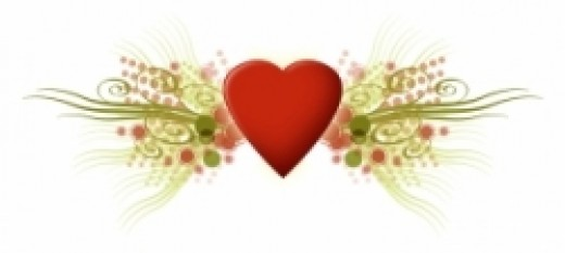 love songs, heart, abstract, flourish