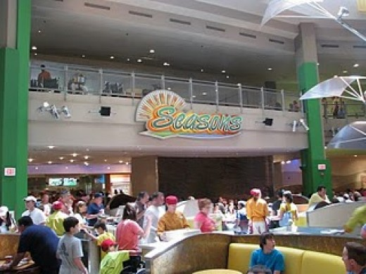 Inside the Land Pavilion