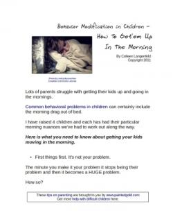 behavior modification in children