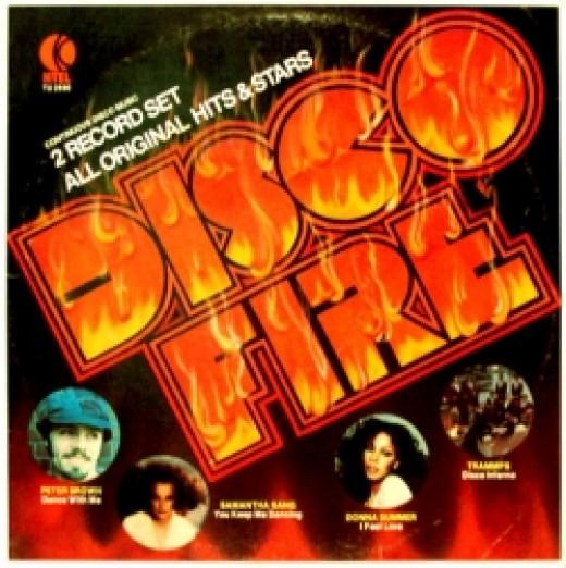 k-tel, record, album, cover, disco fire